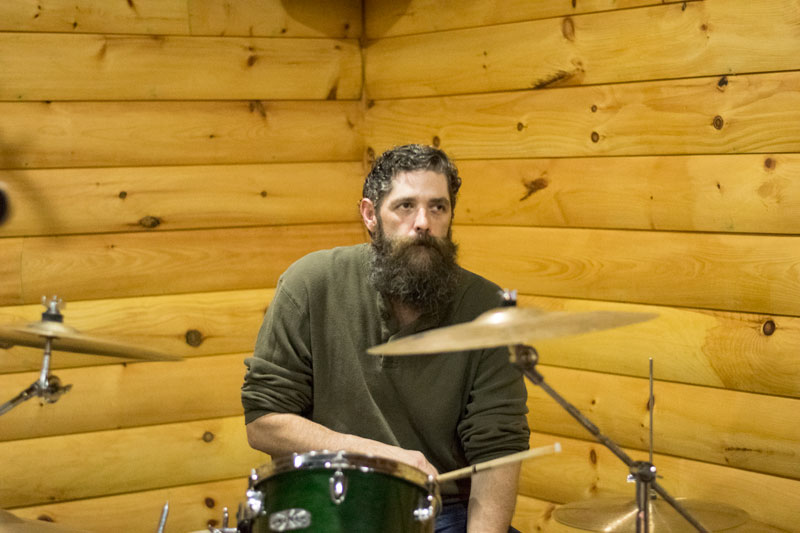 Photo of Brian Bristol playing drums at Zak's Wilderness Lounge